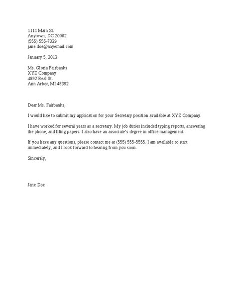 cover letters for cv coverletter sles coverletters and resume templates