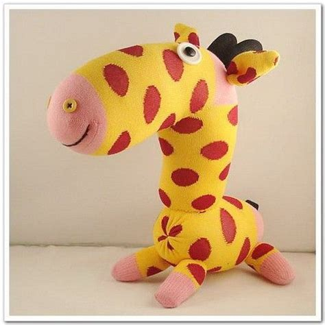 sock animals giraffe handmade sock giraffe stuffed animal doll baby toys 19