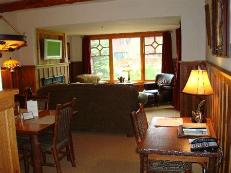 living room with desk picture of the whiteface lodge