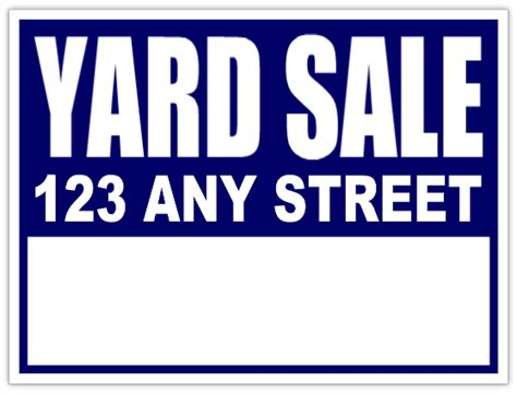 Yard Sale Signs Neighborhood Sale Blue Lawn Sign Yard Sale Signs Templates