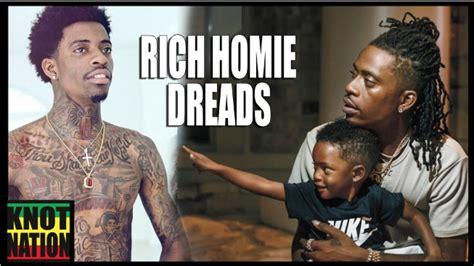 rich homie grows dreads locks rich homie quan dreads faux locs loc chop youtube