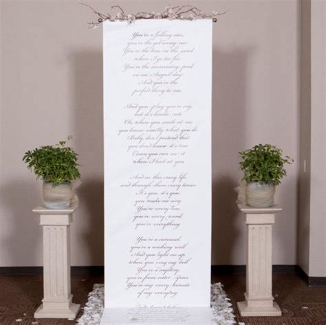 Wedding Vow Backdrop by Handwritten Style Wedding Ceremony Backdrop For Your Altar