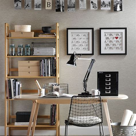 Home Office Desk Accessories Uk Neutral Home Office With Black Accessories Decorating