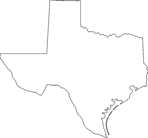 blank texas map free coloring pages of texas map outline