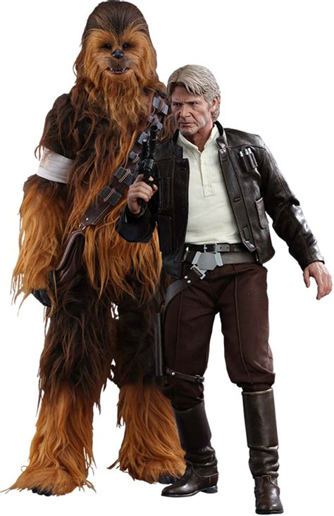 Toys Chewbacca wars han and chewbacca sixth scale figure set by