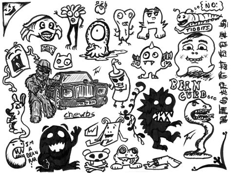 doodle monsters the gallery for gt cool doodle characters
