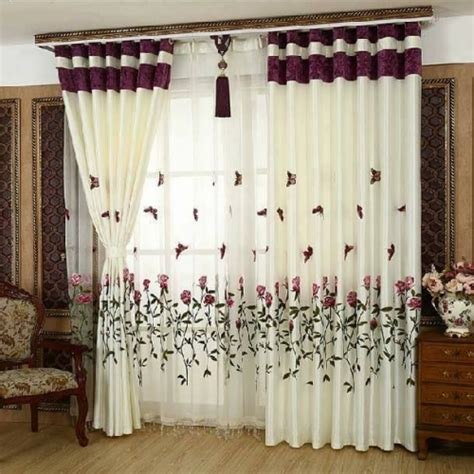 curtain shop design peredele organza albe cu flori