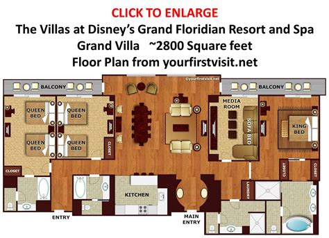 grand floridian 2 bedroom villa floor plan accommodations and theming at disney s animal kingdom
