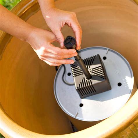 Haz una fuente de agua para tu jardín