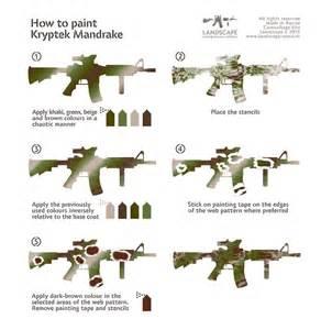 Camo Paint Template by How To Paint Kryptek Mandrake Ar 15