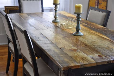 Reclaimed Wood Farm Table by William K Perdue Reclaimed Wood Farm Table Turned