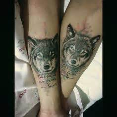 couple tattoo wolf 120 tattoos for couple tattoo ideas couple and foxes