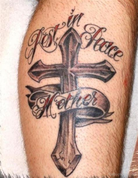 cross tattoo on leg leg tattoos designs pictures page 8