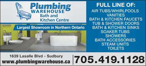 Plumbing Supplies Sudbury plumbing warehouse opening hours 1639 lasalle blvd sudbury on