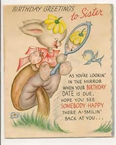 vintage birthday greetings card to by myramelinda on etsy