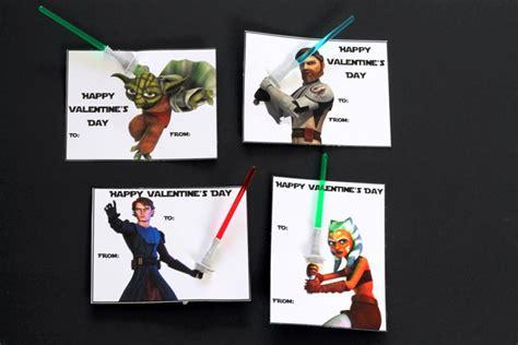 printable star wars valentines with glow stick star wars printable valentines