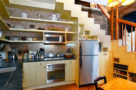 Ideas For Use Space Under Stairs With Storage Freshnist Stairs Kitchen Design