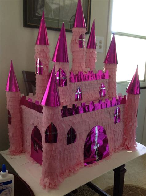 Setelan Motif Princess 8 castle princess pinata made for my birthday expended about 10 00 used two boxes