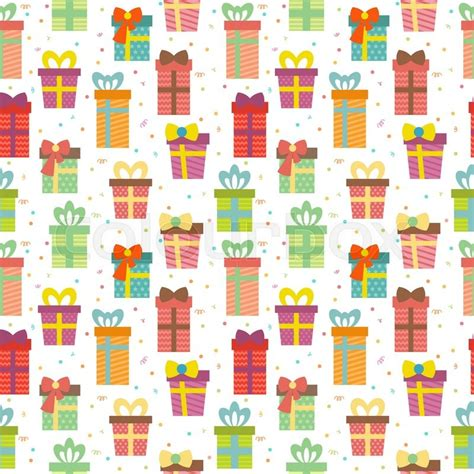 gift pattern background seamless pattern with gift boxes cute birthday presents