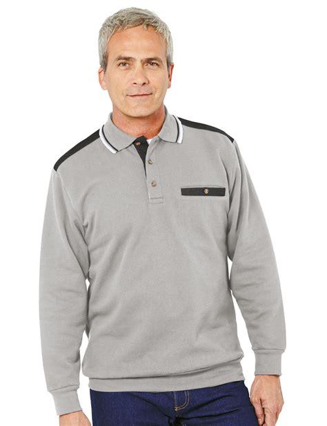 Collared Sweatshirt mens polo collar sweatshirt ebay