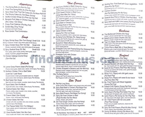 thai garden menu rose garden thai menu 2 wm calgary find menus ca