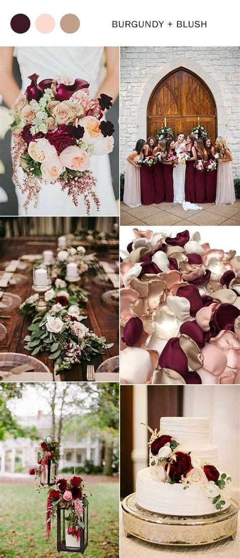 010 Two Colors Blush On 5 Isi 2 Warna 2 In 1 New trending 5 burgundy wedding color ideas to blush weddings weddings and wedding