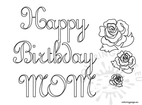 happy birthday mom 2 coloring page