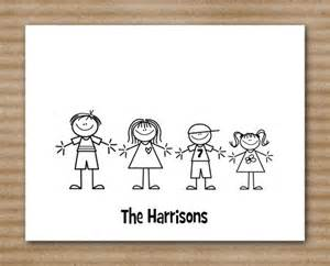 stick family note cards personalized by paperhousedesigns