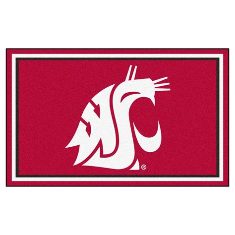 State Rug by Fanmats Washington State 4 Ft X 6 Ft Area Rug 6786 The Home Depot