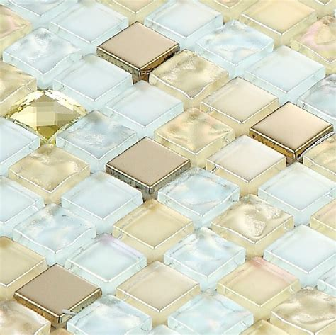 glass mosaic tiles ssmt254 metal stainless steel