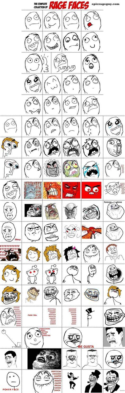 Meme Face Collection - rage comic faces