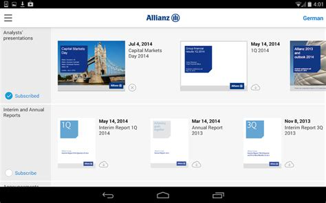 Relation App Allianz Investor Relations Android Apps On Play