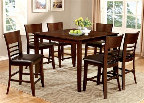 7 counter height dining room sets hillsview ii 7 counter height dining room set cm3916pt 7pc furniture of america