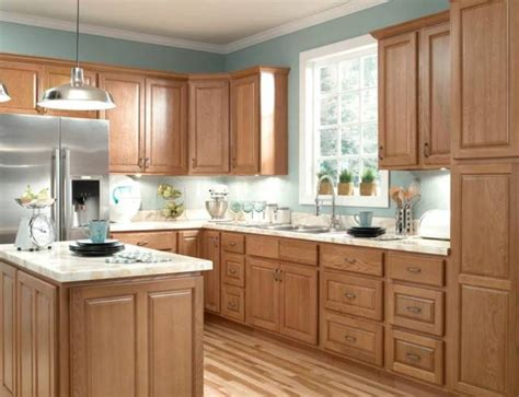 blue kitchen with oak cabinets furniture durable oak kitchen cabinets honey oak