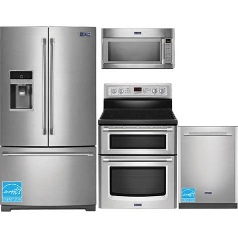 maytag kitchen appliance packages maytag mft2574dem ss stainless steel complete kitchen