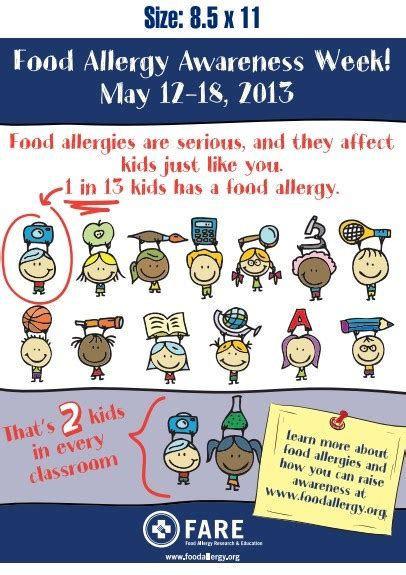 printable allergy poster pin by jackie ourman on food allergy awareness resources