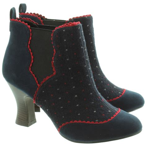ruby shoo sammy heeled ankle boots in navy in navy
