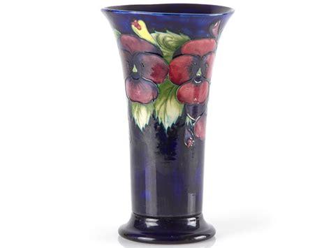 Moorcroft Pansy Vase by William Moorcroft Pansy Signed Vase Ebay