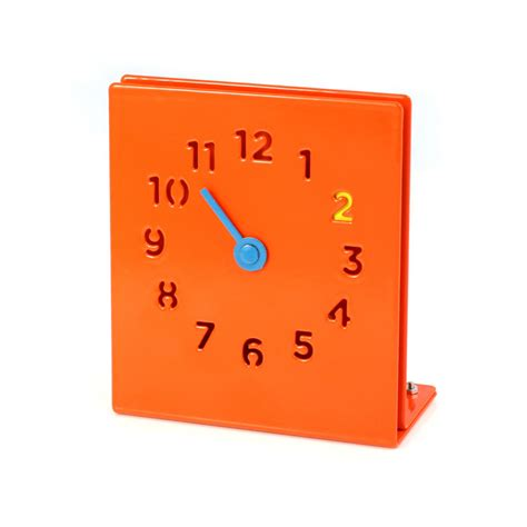 orange desk accessories desk clock orange iwoot