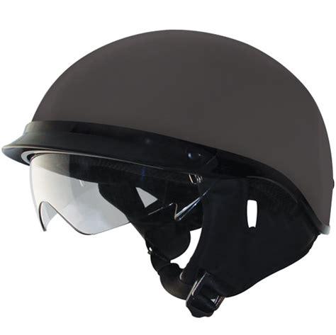 helm half rn visor zox alto ddv matte black half helmet with drop visor