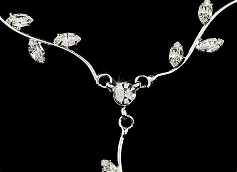 Floral Dangle In 14k With Silver And Clear Cubic Zirconia P 278 silver clear dangle floral bridal set ne 328