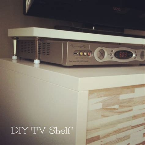easy tv shelf so cable box can sit the tv