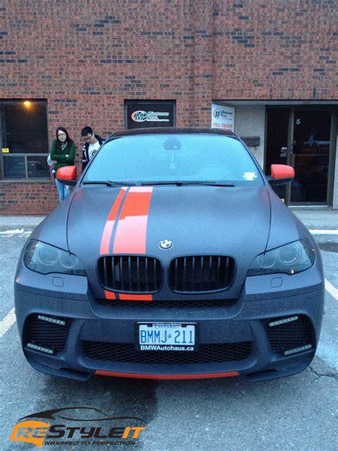 bmw  orange stripes vehicle customization shop vinyl
