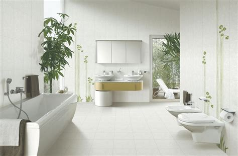 Indoor Plants Bathroom by Appealing White Color Furniture With Best Bathub