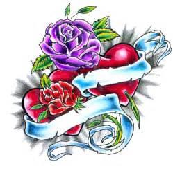 rose heart tattoos