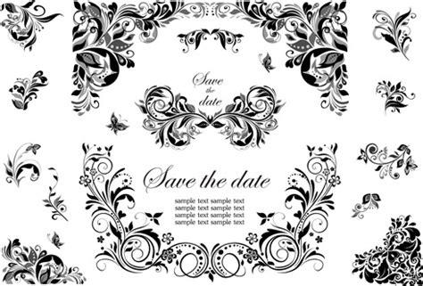 black pattern cdr vector black floral cdr free vector download 14 392 free
