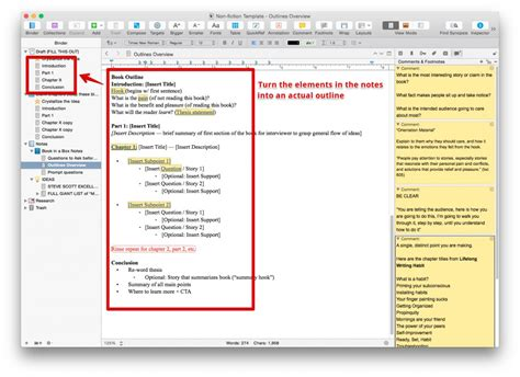 create a personal ready to use non fiction scrivener