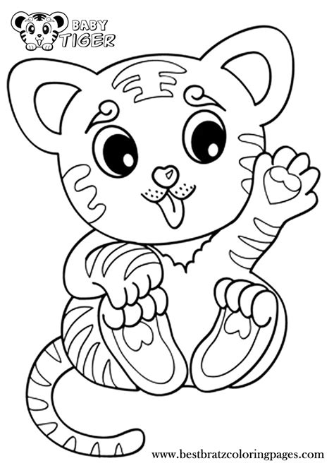 10 cute animals coloring pages 10 pics of baby tiger cute animals coloring pages print