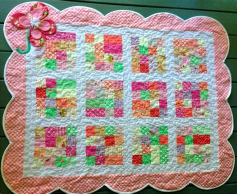 Scalloped Quilts by Scalloped Edge Free Motion Quilted Baby Quilts I Ve Made