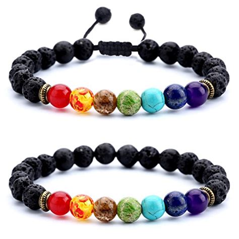 bead bracelets for guys hamoery 8mm lava rock chakra bracelet
